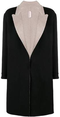 Antonio Marras contrast lapel soft coat