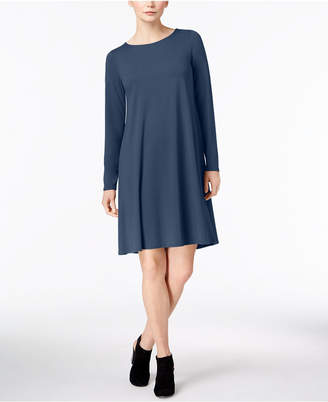 Eileen Fisher Stretch Jersey A-Line T-Shirt Dress, Created for Macy's