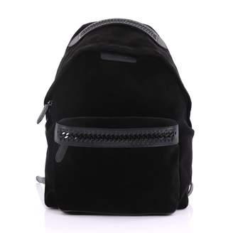 Stella McCartney Stella Mc Cartney Falabella Black Velvet Backpacks