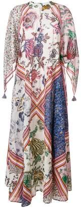 Tory Burch patchwork print maxi dress
