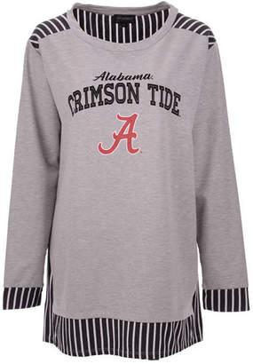Couture Gameday Women Alabama Crimson Tide Striped Panel Long Sleeve T-Shirt