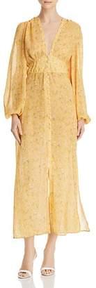 Divine Heritage Button-Front Floral Dress