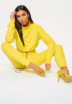 Missguided Yellow Elastic Cuff Joggers