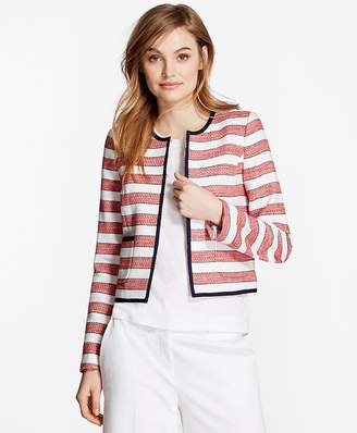 Striped Boucle Jacket $178 thestylecure.com
