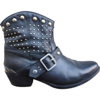 Ikks Leather buckled boots