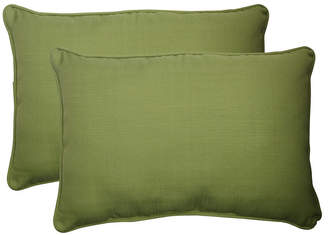 Pillow Perfect Forsyth Kiwi Over-sized Rectangular Throw Pillow, Set of 2
