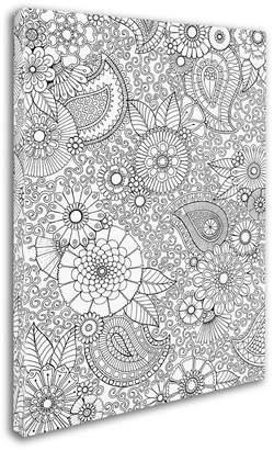 Trademark Global Hello Angel 'Paisley Floral' Canvas Art