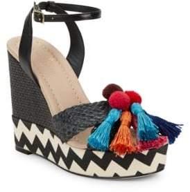 Kate Spade Delancey Woven Platform Sandals