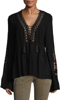 Allison Collection Women's Embroidered Sleeve Top