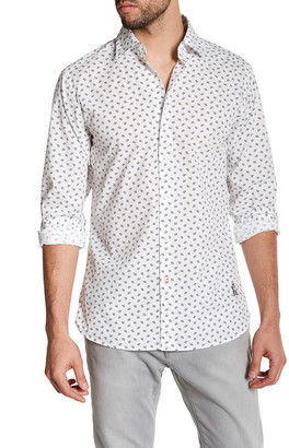 Psycho Bunny Printed Long Sleeve Trim Fit Shirt $110 thestylecure.com