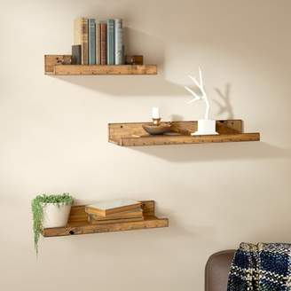 Union Rustic Dunlap Rustic 3 Piece Floating Shelf Set