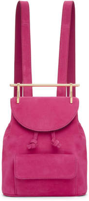 M2Malletier Pink Suede Mini Backpack