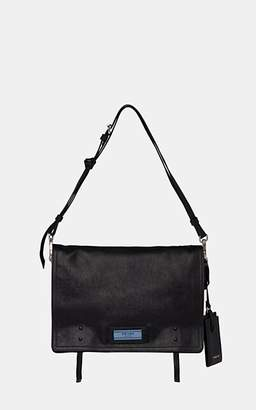 Prada Women's Etiquette Medium Leather Messenger Bag - Black