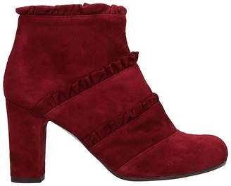 Chie Mihara Bordeaux Suede Ankle Boots