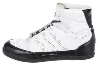 Y-3 Boys' Leather High-Top Sneakers