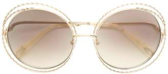 Chloé (クロエ) - Chloé Eyewear oversized wired sunglasses