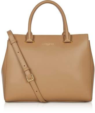 Lancaster Paris Camelia Smooth Leather Top Handle Satchel Bag