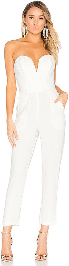 Amanda Uprichard Cherri Jumpsuit in Ivory. - size L (also in M,S,XS)