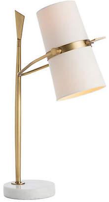 Arteriors Yasmin Marble Table Lamp - Brass/White