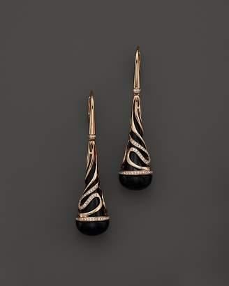 Bloomingdale's Diamond and Black Onyx Drop Earrings in 14K Rose Gold, .35 ct. t.w. - 100% Exclusive