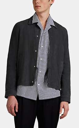 Officine Generale Men's Suede Snap-Front Coach's Jacket - Gray