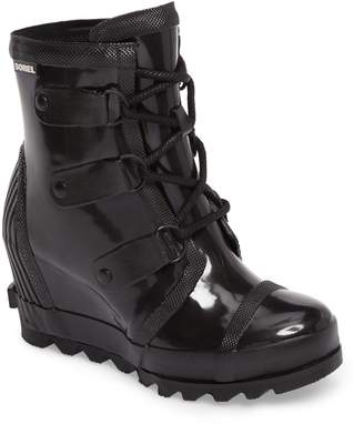 Sorel Joan Glossy Wedge Rain Boot