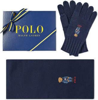 Polo Ralph Lauren Classic Bear Glove & Scarf Gift Box