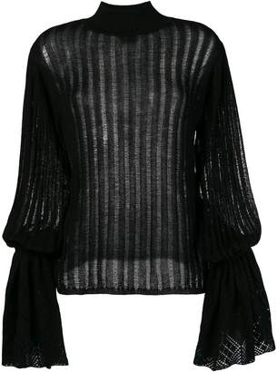 Michel Klein pleated knit jumper