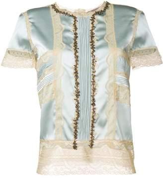 Ermanno Scervino lace detailing blouse