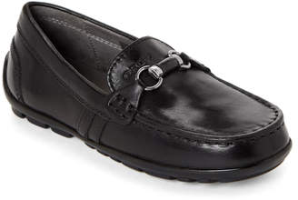 Geox Toddler Boys) Black Fast Leather Moccasins