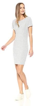 Three Dots Women's Cape cod Stripe Tight mid Dress