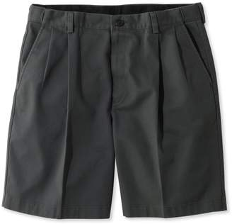 "L.L. Bean L.L.Bean Wrinkle-Free Double L Chino Shorts, Natural Fit Pleated Hidden Comfort 8"" Inseam"