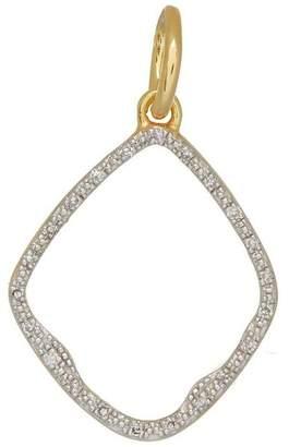 Monica Vinader Gold Vermeil Diamond Riva Hoop Pendant