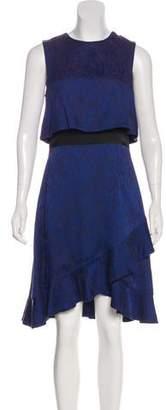 Prabal Gurung Silk-Trimmed Jacquard Dress