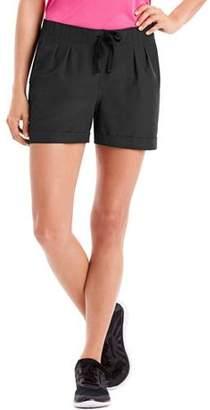 Hanes Sport Women's Performance Pleated Woven Shorts