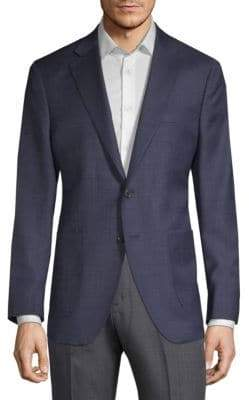 Saks Fifth Avenue Textured Wool & Silk Suit Jacket