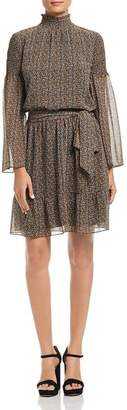 MICHAEL Michael Kors Printed Mock Neck Dress - 100% Exclusive