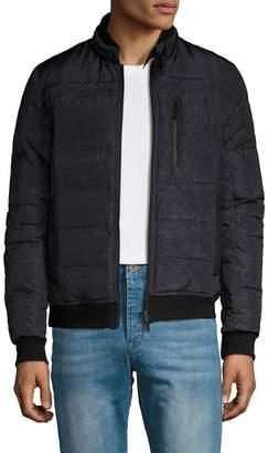Elie Tahari Reversible Tweed Print Bomber Jacket