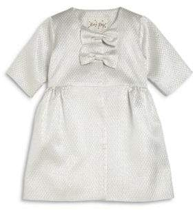 Rachel Riley Little Girl's Satin Jacquard Coat