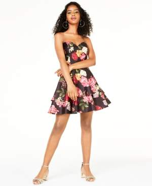 Blondie Nites Juniors' Strapless Sweetheart Dress