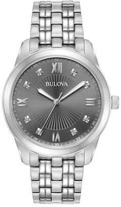 Bulova Men's Classic Diamond Accented Watch - 0.04ctw, 40mm