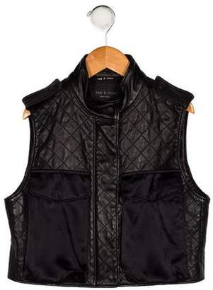 Rag & Bone Girls' Sleeveless Leather Vest