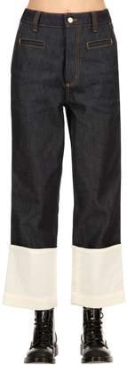 Loewe Denim Jeans With Contrasting Hem