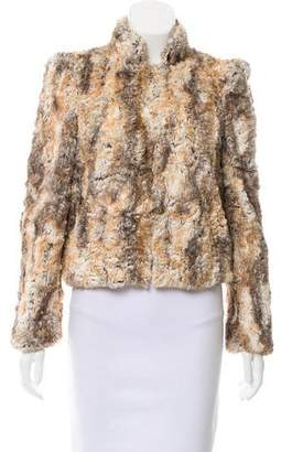 Alice + Olivia Structured Faux-Fur Jacket