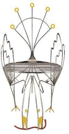 Zanotta - pavone chair by riccardo dalisi