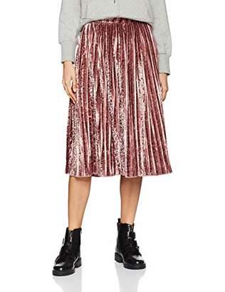 Glamorous Women's Leopard Velvet Skirt Skirt,8 (Manufacturer Size:XS)