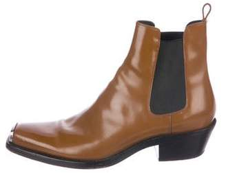 Calvin Klein 2018 Spazzolato Leather Ankle Boots