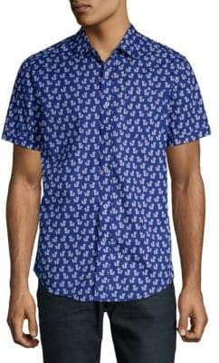 Report Collection Printed Cotton Button-Down Shirt