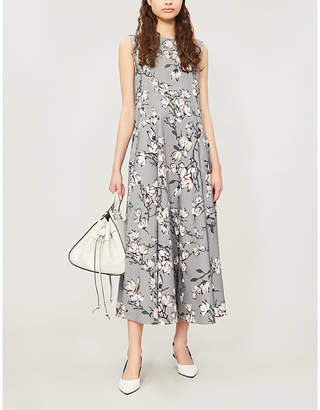 Max Mara S Corrado floral-print flared cotton dress
