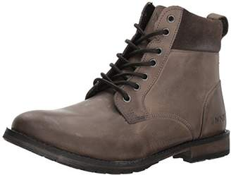 Andrew Marc Men's Kent Combat Boot Dark Grey/Black/Honey